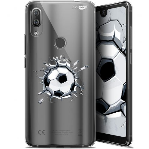 "Extra Slim Gel Wiko View 2 Pro (6"") Case Design Le Balon de Foot"