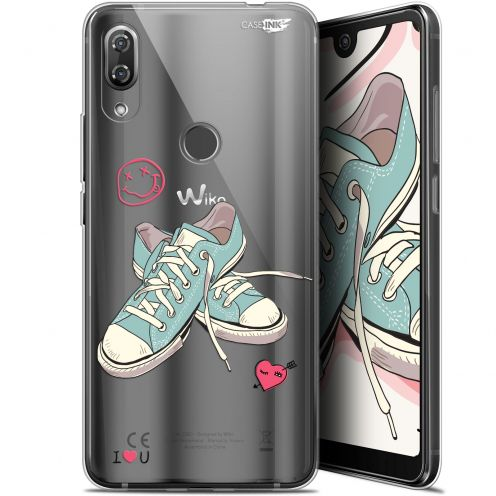 """Extra Slim Gel Wiko View 2 Pro (6"""") Case Design Mes Sneakers d'Amour"""