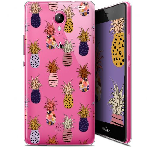 "Extra Slim Gel Wiko Tommy (5"") Case Design Ananas Gold"