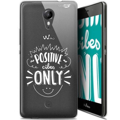 """Extra Slim Gel Wiko Tommy (5"""") Case Design Positive Vibes Only"""