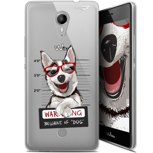 "Extra Slim Gel Wiko Tommy (5"") Case Design Beware The Husky Dog"