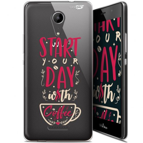 """Extra Slim Gel Wiko Tommy 2 (5"""") Case Design Start With Coffee"""
