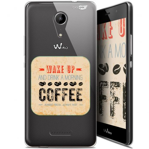"""Extra Slim Gel Wiko Tommy 2 (5"""") Case Design Wake Up With Coffee"""