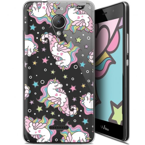 "Extra Slim Gel Wiko Tommy 2 Plus (5.5"") Case Design Licorne Dormante"