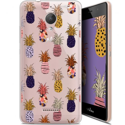 """Extra Slim Gel Wiko Tommy 2 Plus (5.5"""") Case Design Ananas Gold"""
