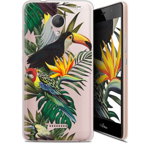 "Extra Slim Gel Wiko Tommy 2 Plus (5.5"") Case Design Toucan Tropical"