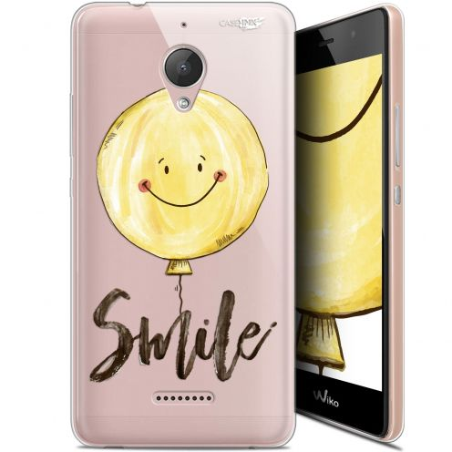 "Extra Slim Gel Wiko Tommy 2 Plus (5.5"") Case Design Smile Baloon"