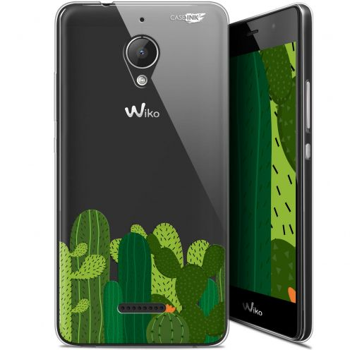 "Extra Slim Gel Wiko Tommy 2 Plus (5.5"") Case Design Cactus"