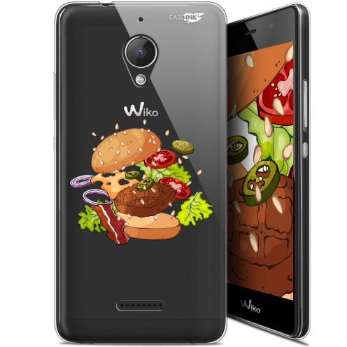 "Extra Slim Gel Wiko Tommy 2 Plus (5.5"") Case Design Splash Burger"