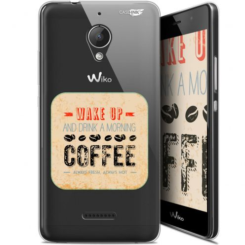 "Extra Slim Gel Wiko Tommy 2 Plus (5.5"") Case Design Wake Up With Coffee"