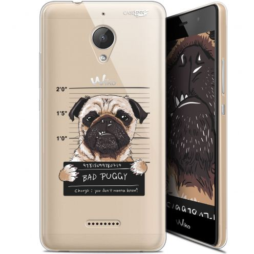 "Extra Slim Gel Wiko Tommy 2 Plus (5.5"") Case Design Beware The Puggy Dog"