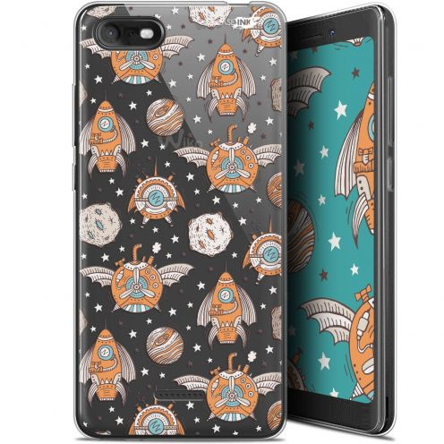"""Extra Slim Gel Wiko Tommy 3 (5.45"""") Case Design Punk Space"""