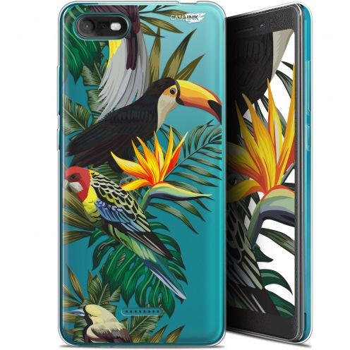 """Extra Slim Gel Wiko Tommy 3 (5.45"""") Case Design Toucan Tropical"""