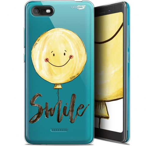 "Extra Slim Gel Wiko Tommy 3 (5.45"") Case Design Smile Baloon"