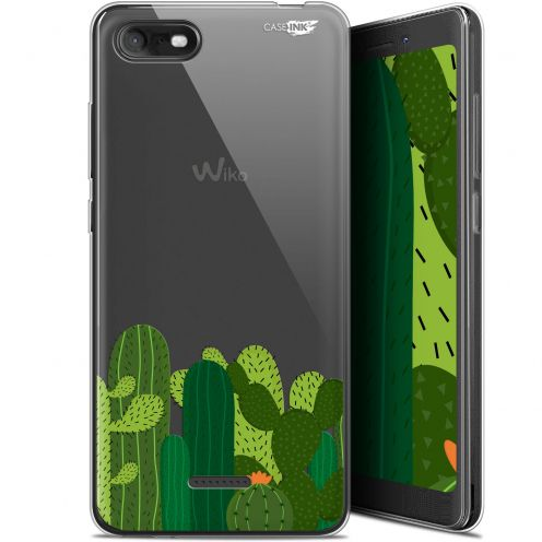 "Extra Slim Gel Wiko Tommy 3 (5.45"") Case Design Cactus"