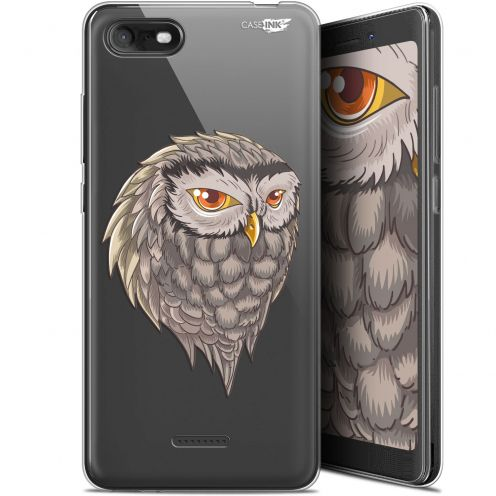 "Extra Slim Gel Wiko Tommy 3 (5.45"") Case Design Hibou Draw"