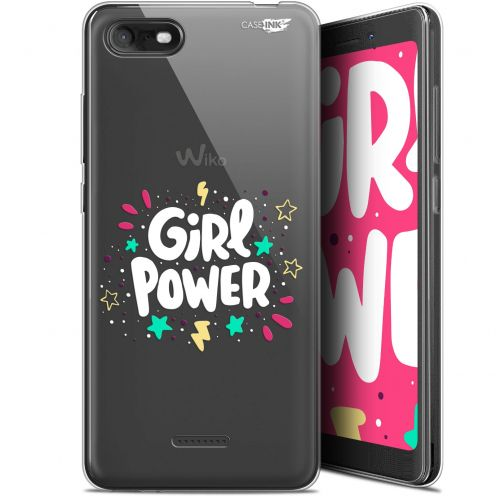 "Extra Slim Gel Wiko Tommy 3 (5.45"") Case Design Girl Power"