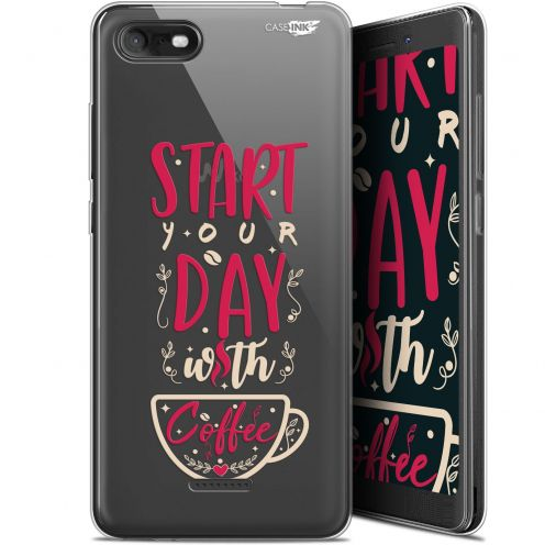 """Extra Slim Gel Wiko Tommy 3 (5.45"""") Case Design Start With Coffee"""