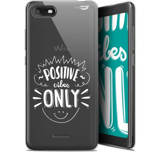 """Extra Slim Gel Wiko Tommy 3 (5.45"""") Case Design Positive Vibes Only"""