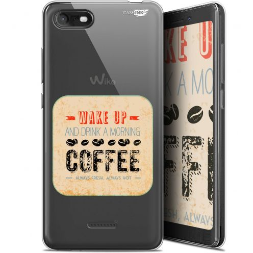 "Extra Slim Gel Wiko Tommy 3 (5.45"") Case Design Wake Up With Coffee"