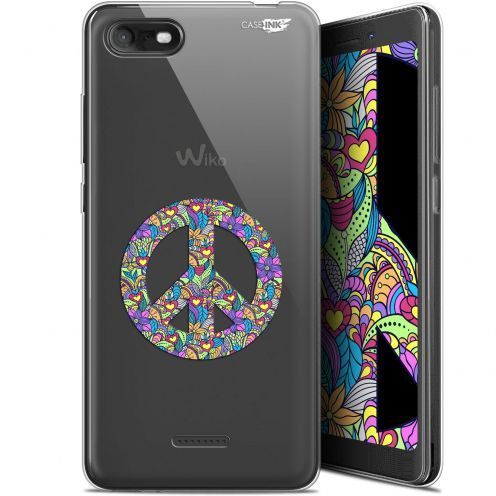 """Extra Slim Gel Wiko Tommy 3 (5.45"""") Case Design Peace And Love"""
