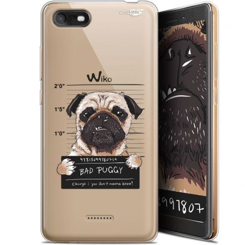 """Extra Slim Gel Wiko Tommy 3 (5.45"""") Case Design Beware The Puggy Dog"""
