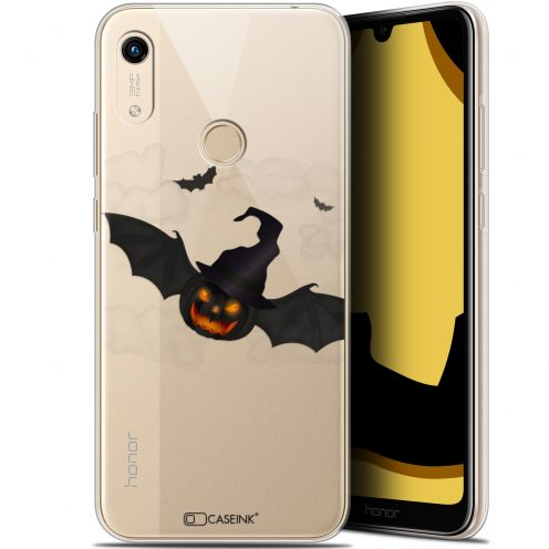 "Extra Slim Gel Huawei Honor 8A (6.1"") Case Halloween Chauve Citrouille"