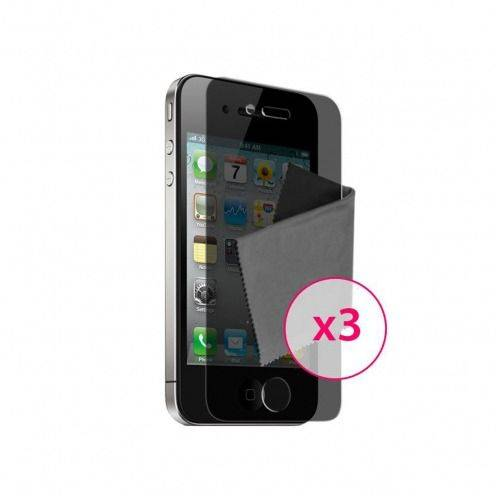 Clubcase ® Privacy Anti-glare screen protector for iPhone 4/4S set of 3