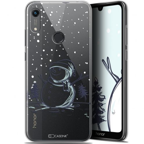 "Extra Slim Gel Huawei Honor 8A (6.1"") Case Noël 2017 Bonhomme de Neige"