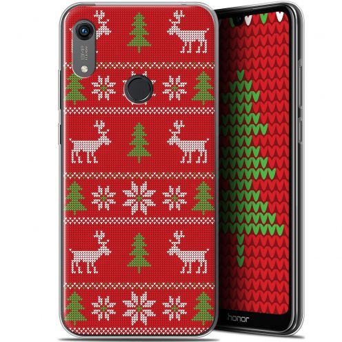"""Extra Slim Gel Huawei Honor 8A (6.1"""") Case Noël 2017 Couture Rouge"""