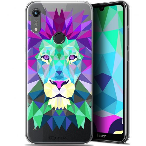 "Extra Slim Gel Huawei Honor 8A (6.1"") Case Polygon Animals Lion"