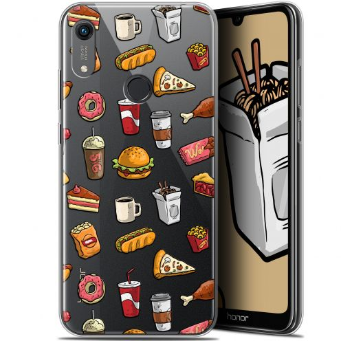 "Extra Slim Gel Huawei Honor 8A (6.1"") Case Foodie Fast Food"