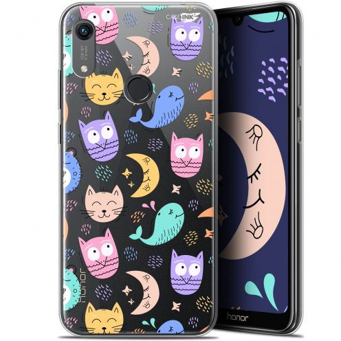 """Extra Slim Gel Huawei Honor 8A (6.1"""") Case Design Chat Hibou"""