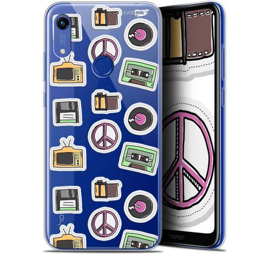 "Extra Slim Gel Huawei Honor 8A (6.1"") Case Design Vintage Stickers"