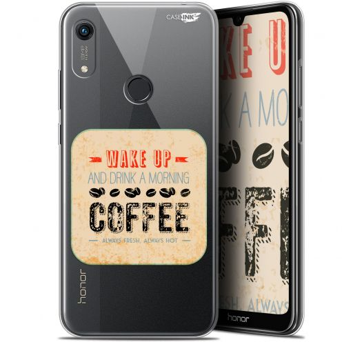 "Extra Slim Gel Huawei Honor 8A (6.1"") Case Design Wake Up With Coffee"