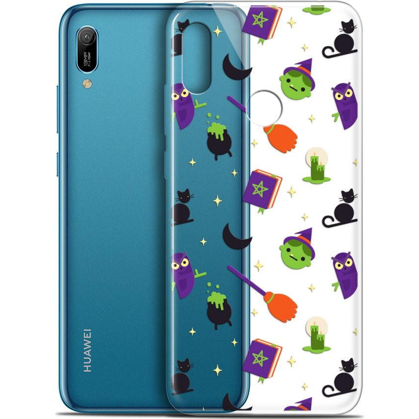 """Extra Slim Gel Huawei Y6 2019 (6.1"""") Case Halloween Witch Potter"""