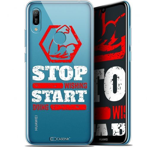 "Extra Slim Gel Huawei Y6 2019 (6.1"") Case Quote Start Doing"