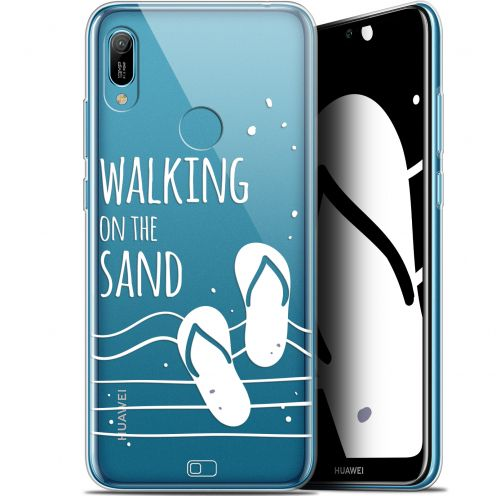 "Extra Slim Gel Huawei Y6 2019 (6.1"") Case Summer Walking on the Sand"