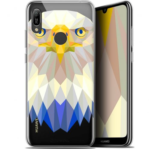 "Extra Slim Gel Huawei Y6 2019 (6.1"") Case Polygon Animals Eagle"