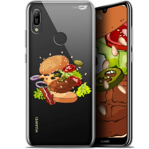 "Extra Slim Gel Huawei Y6 2019 (6.1"") Case Design Splash Burger"