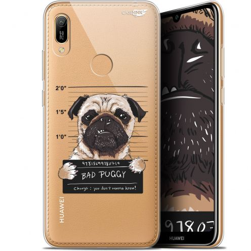 "Extra Slim Gel Huawei Y6 2019 (6.1"") Case Design Beware The Puggy Dog"