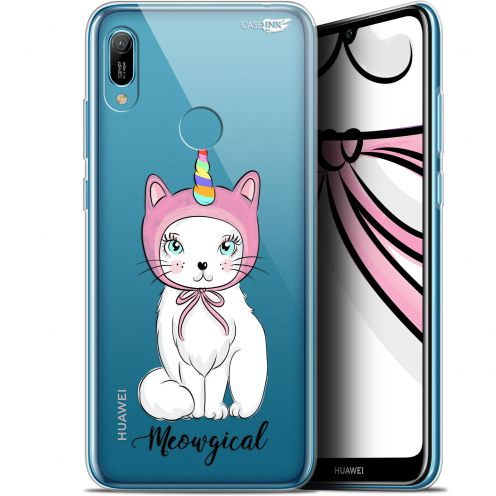 "Extra Slim Gel Huawei Y6 2019 (6.1"") Case Design Ce Chat Est MEOUgical"