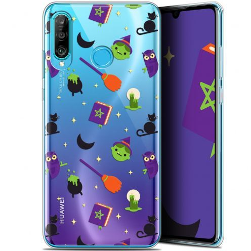 "Extra Slim Gel Huawei P30 Lite (6.2"") Case Halloween Witch Potter"