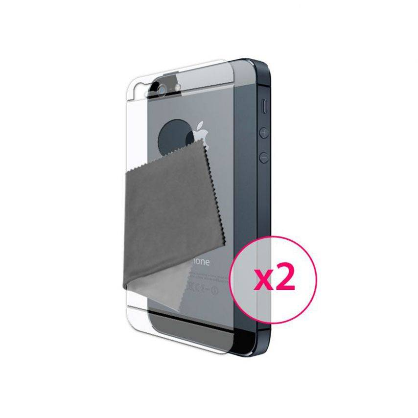 3-parts back protector for iPhone 5 Clubcase ® HQ set of 2