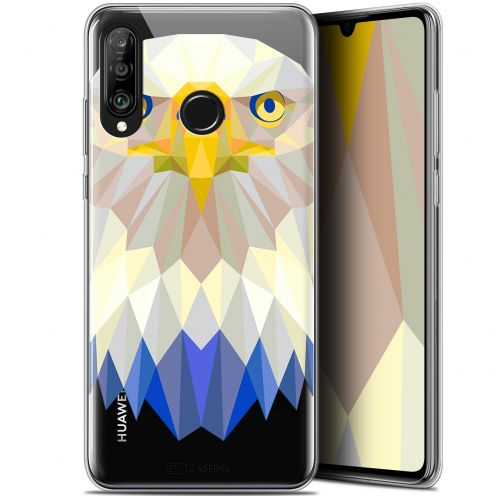 "Extra Slim Gel Huawei P30 Lite (6.2"") Case Polygon Animals Eagle"