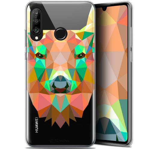 "Extra Slim Gel Huawei P30 Lite (6.2"") Case Polygon Animals Deer"