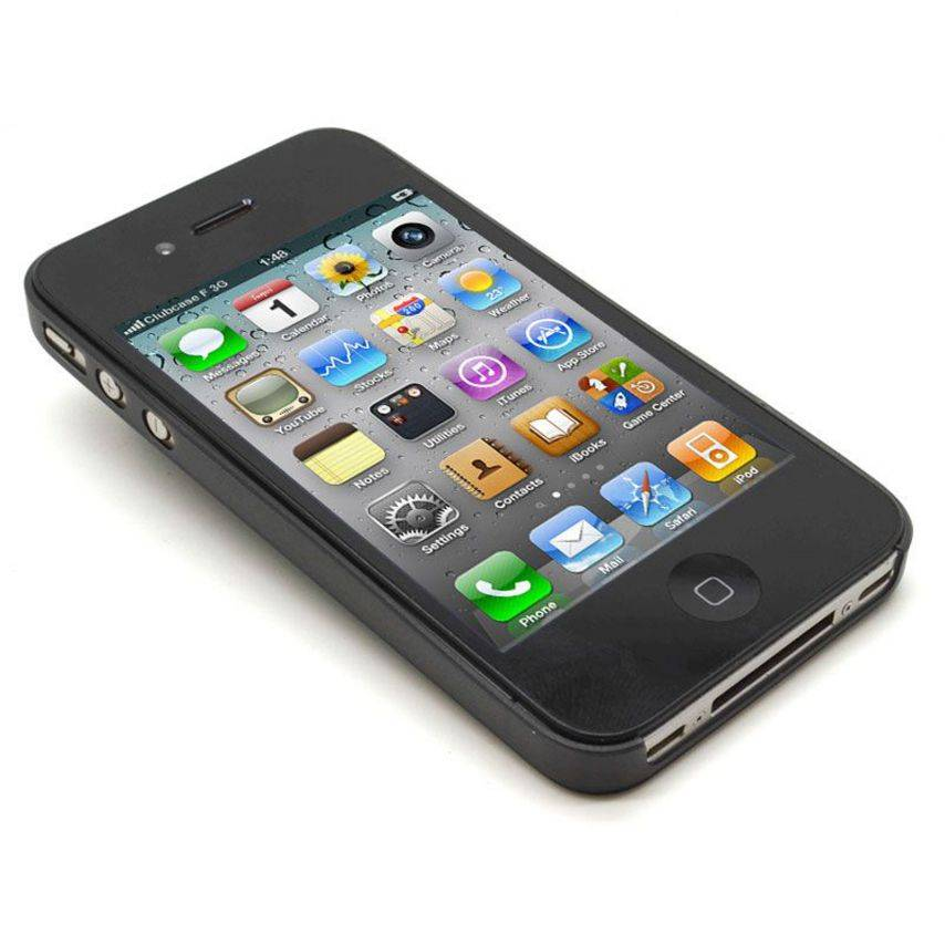 Ultra thin Case 0.3 mm Frost iPhone 4 / 4 Black