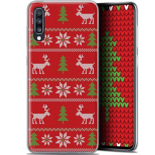 "Extra Slim Gel Samsung Galaxy A70 (6.7"") Case Noël 2017 Couture Rouge"