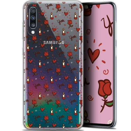"Extra Slim Gel Samsung Galaxy A70 (6.7"") Case Love Bougies et Roses"