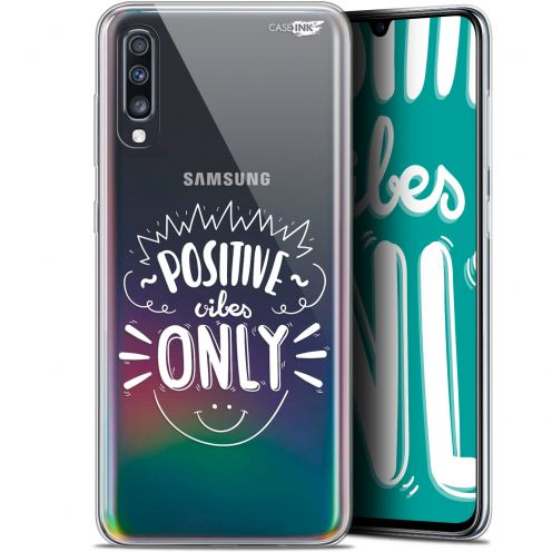 "Extra Slim Gel Samsung Galaxy A70 (6.7"") Case Design Positive Vibes Only"